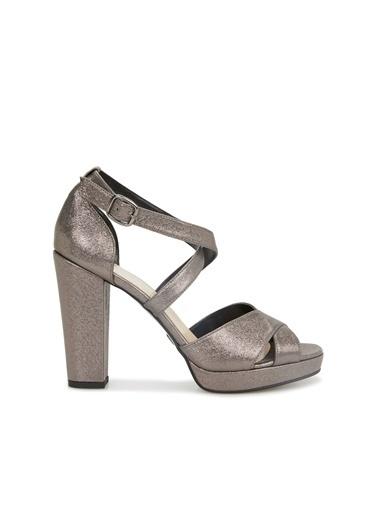 Divarese Divarese 5025374 Silver Topuklu Platin Kadın Sandalet Gri